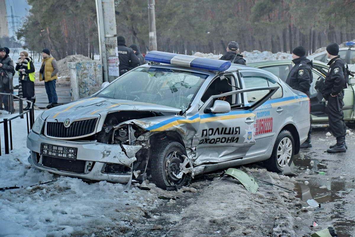 В ДТП попали сотрудники Полиции охраны