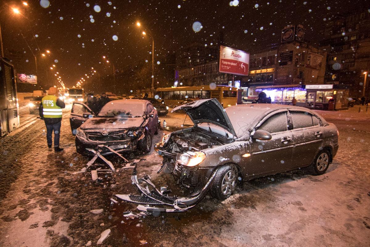ДТП на пересечении улиц Полярной и Калнышевского