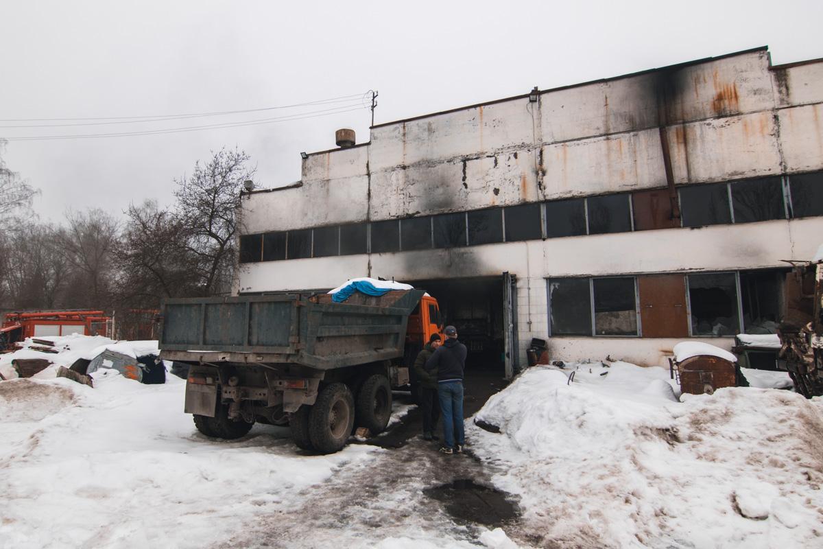Возгорание началось в одном из автобусов