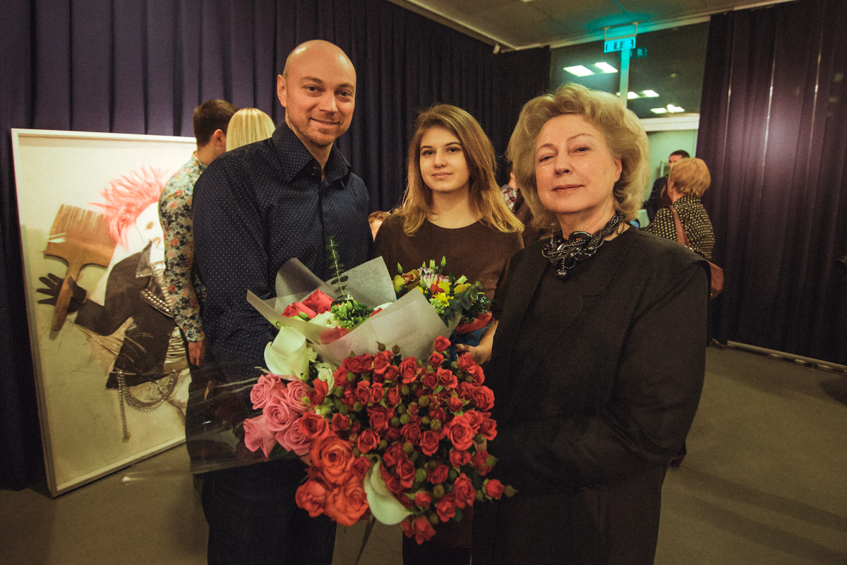 Автор проекта украинский дизайнер Татьяна Иващенко со своим сыном