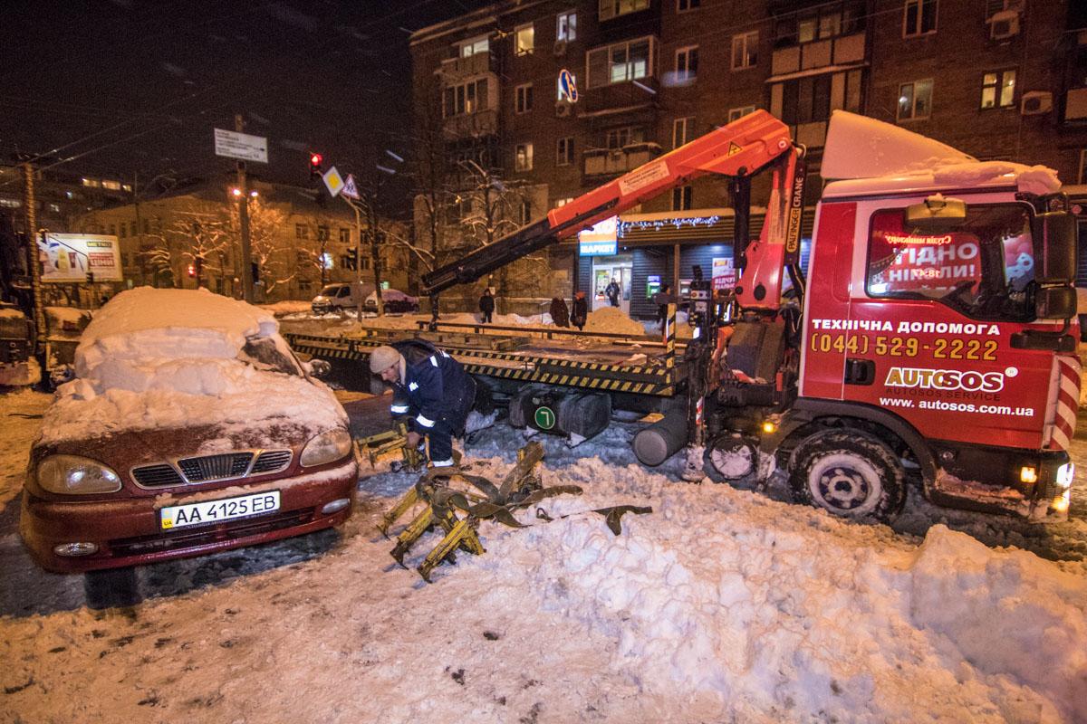 ВШевченковском районе Киева прорвало трубу