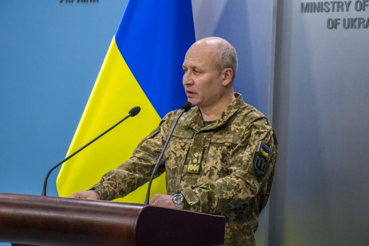 Брифинг провел заместитель начальника Генштаба ВСУ генерал-лейтенант Артура Артеменко