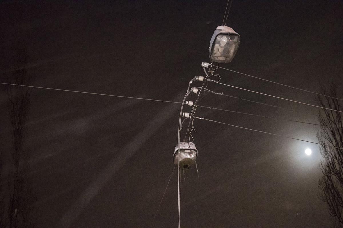 Обрыв проводов на бульваре Шевченко