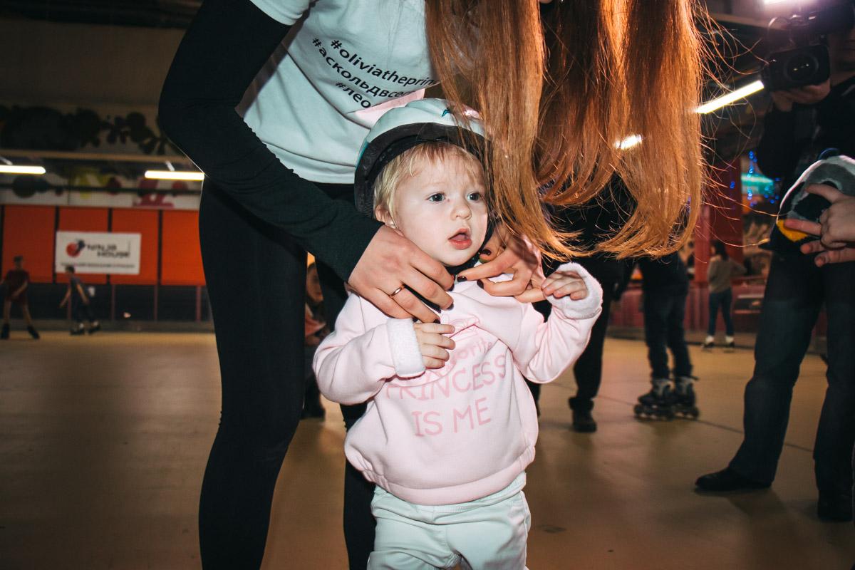 Оливия Шпитко катается на роликах с первого года своей жизни