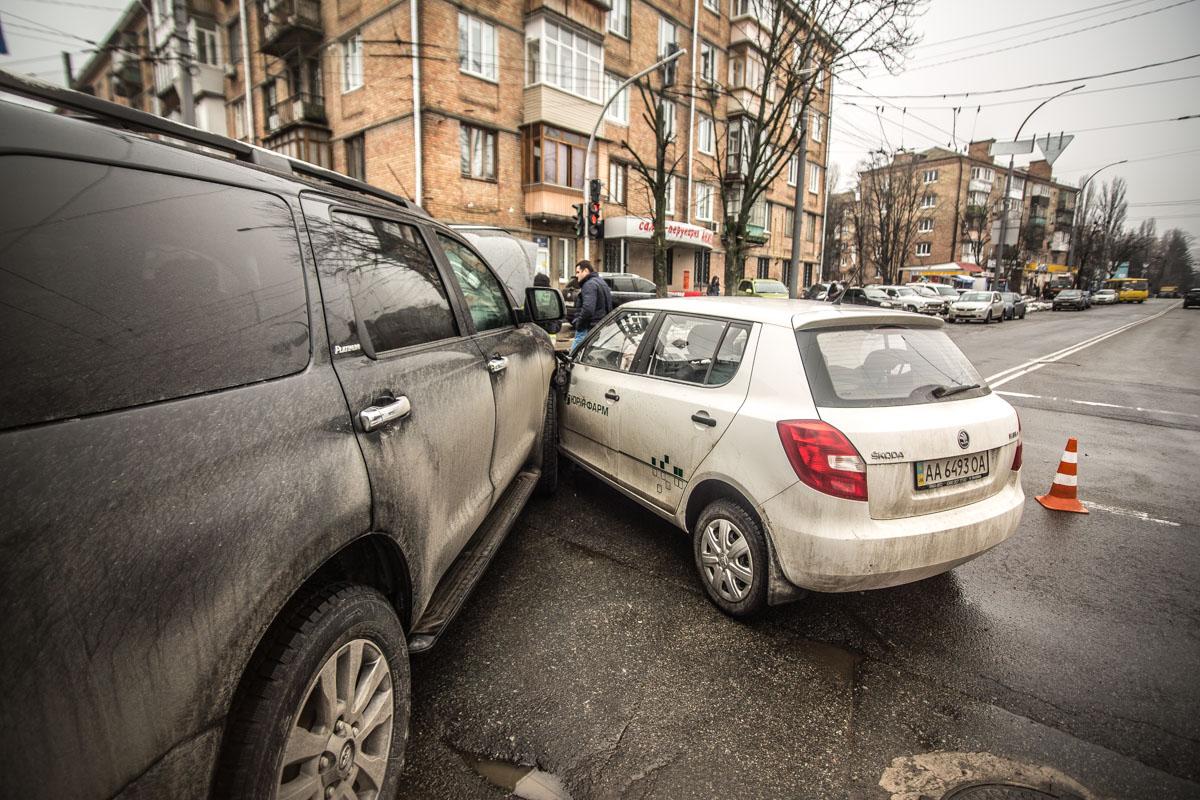 Из машин больше всего пострадала Toyota