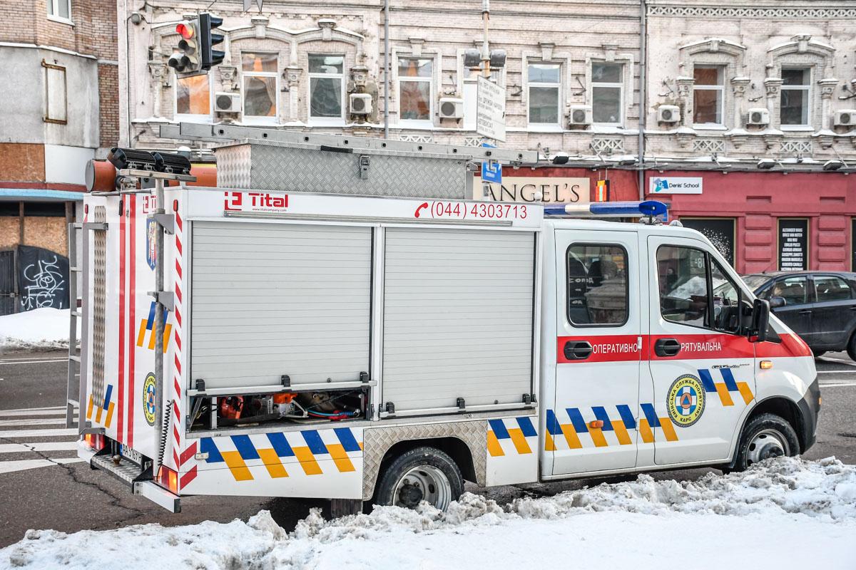Расчет спасателей на месте происшествия