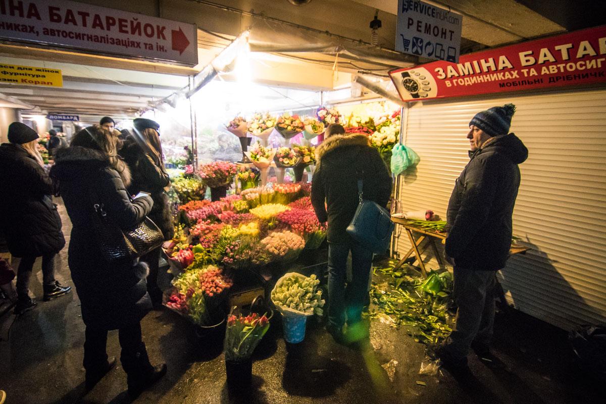 В основном киевляне выбирают тюльпаны