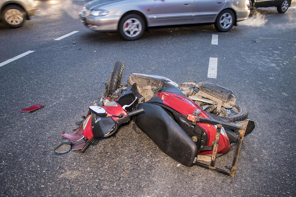Водитель мотоцикла оказался доставщиком пиццы от Pizzaking