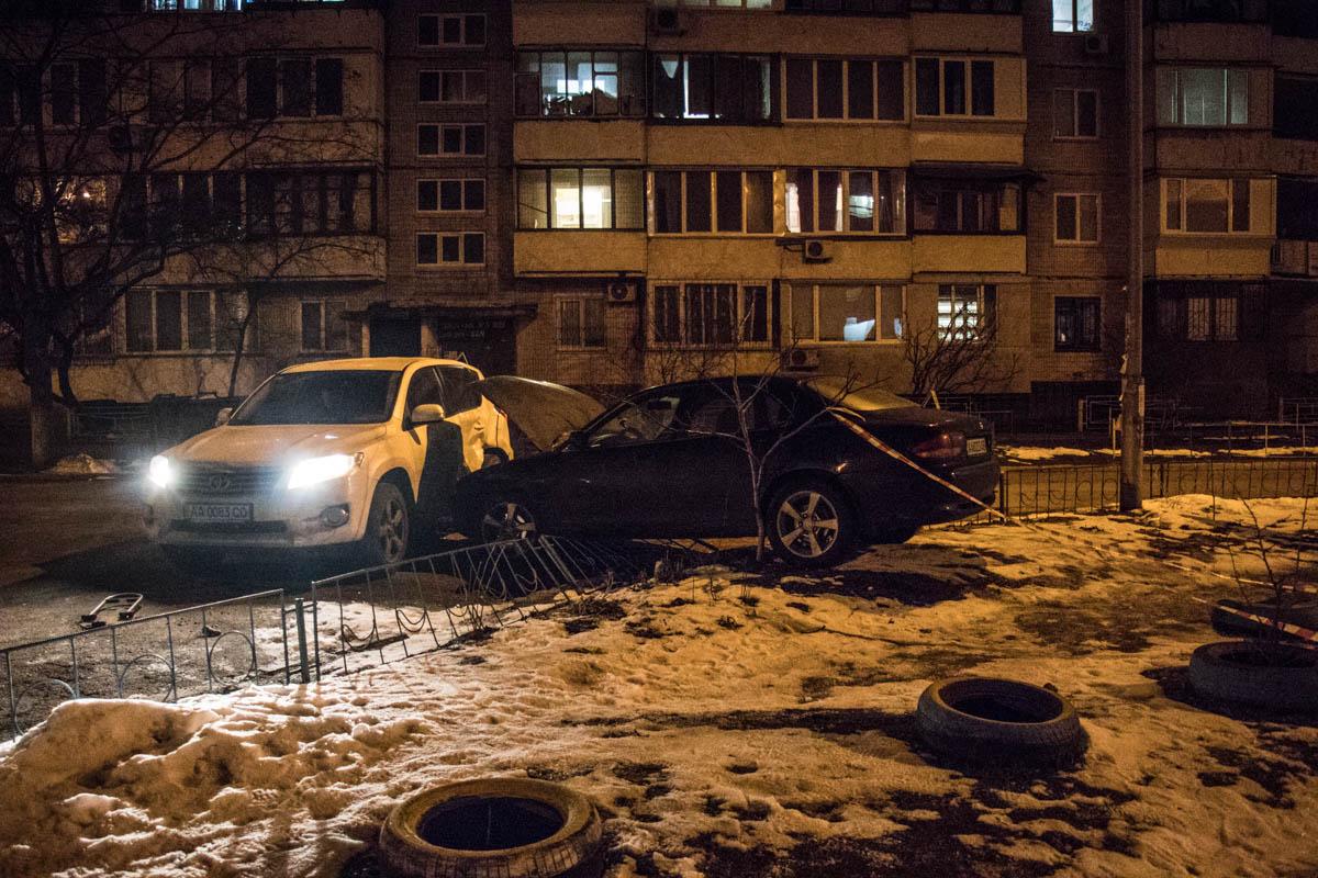 Mazda вылетела с дороги