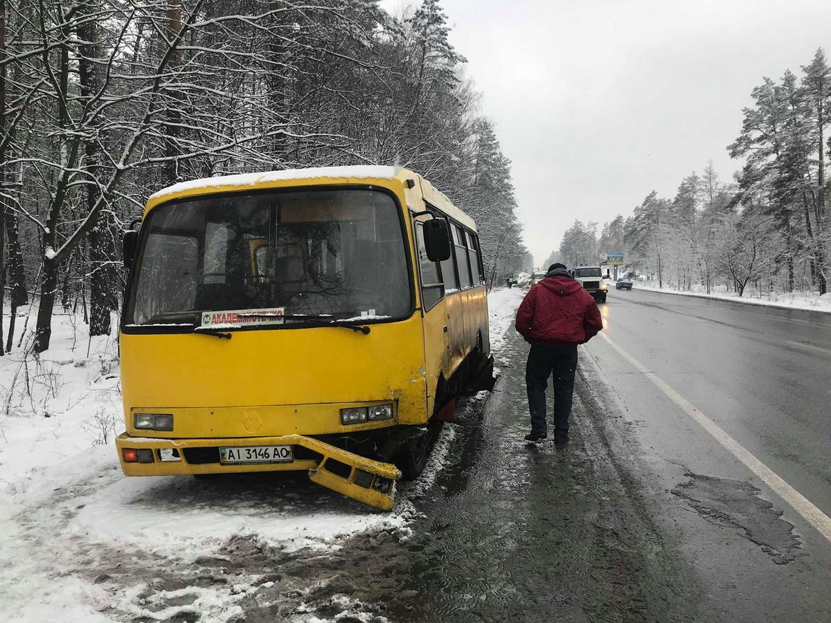В маршрутке на момент аварии людей не было