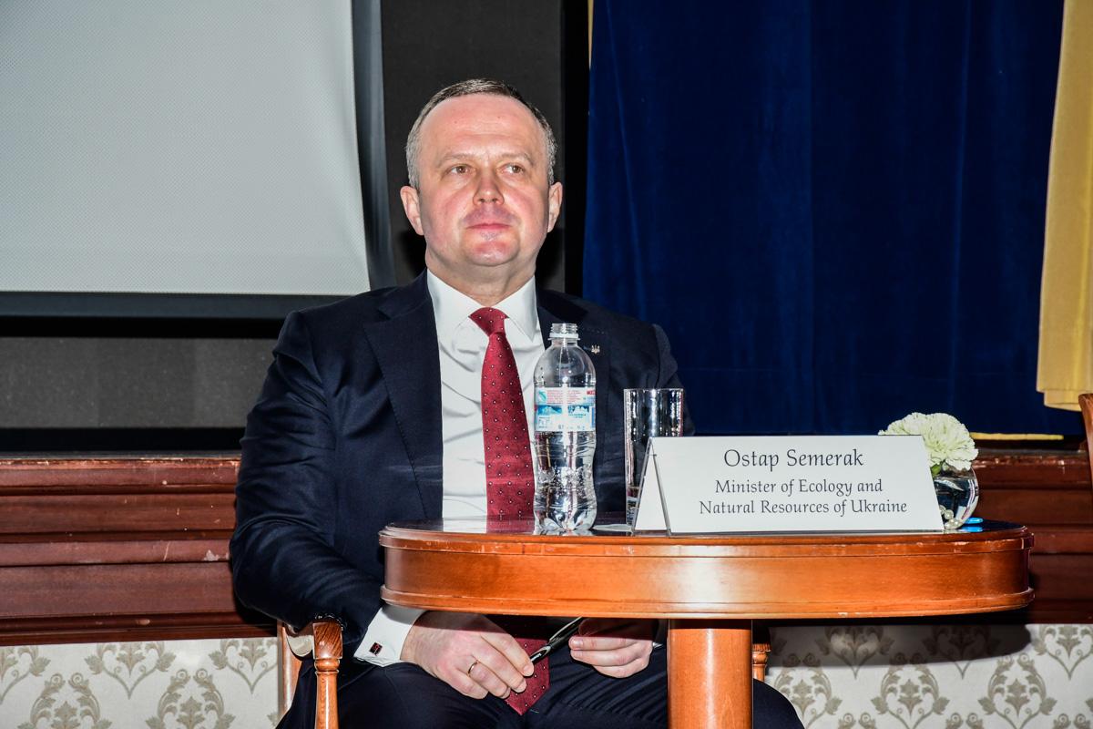 Министр экологии Украины Остап Семерак
