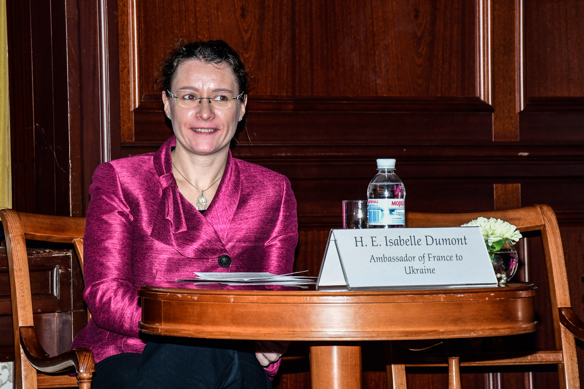 Чрезвычайный и Полномочный Посол Франции в Украине Изабель Дюмон