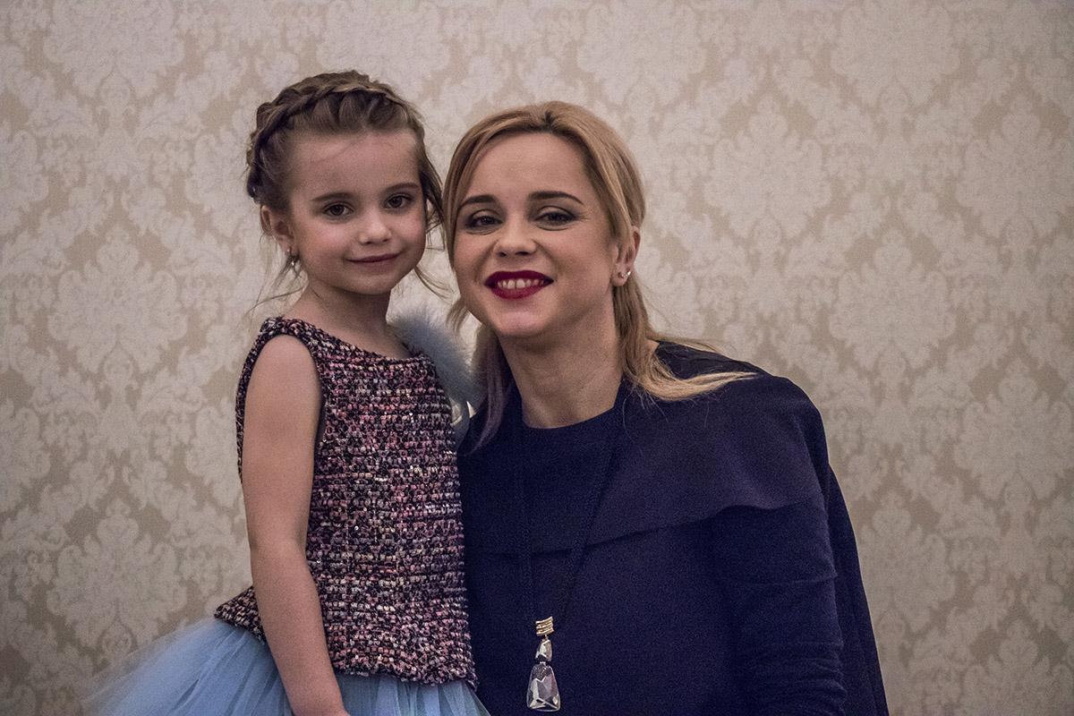 Телеведущая Лилия Ребрик с дочечкой Дианой