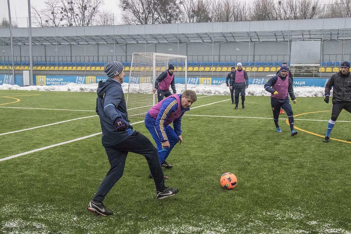 Также сборная Ветеранов Украины провела свою тренировку