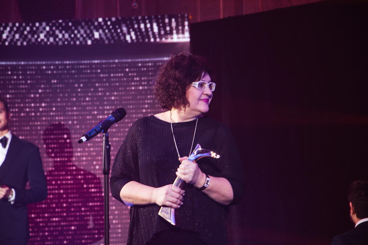 Ольга Поркуян на церемонию приехать не смогла, так как в командировке в Стамбуле. Награду забрала ее представитель