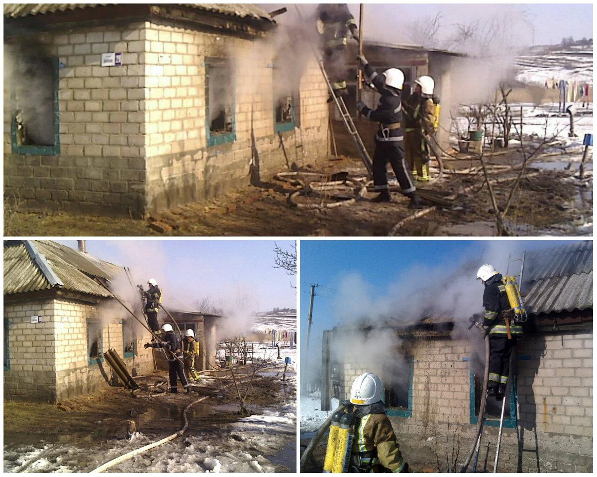На пожаре в Кировоградской области погибли трое детей