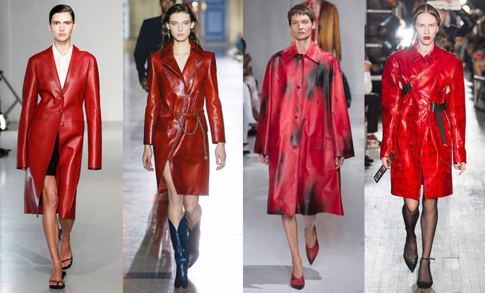 Если вы решили надеть красный плащ, остальная одежда должна быть сдержанной