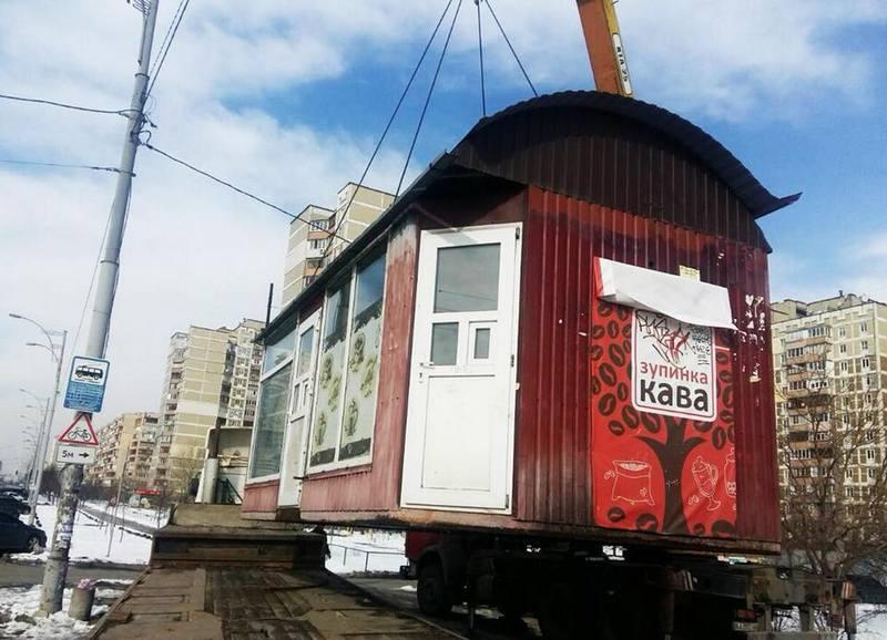 Демонтировали МАФы на 6 улицах Киева
