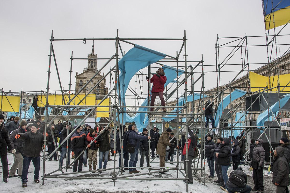 Конструкции установил горсовет Киева к годовщине аннексии Крыма