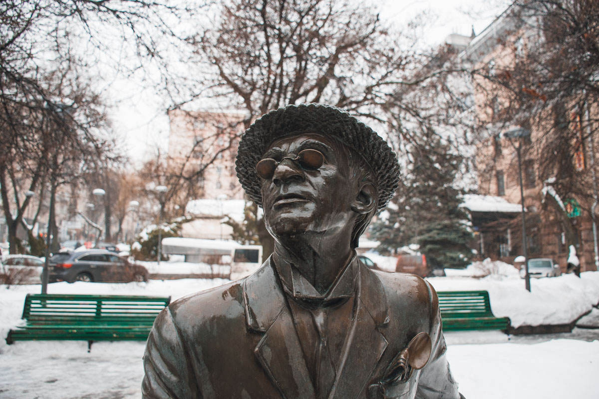Памятник расположен на улице Прорезной, 4