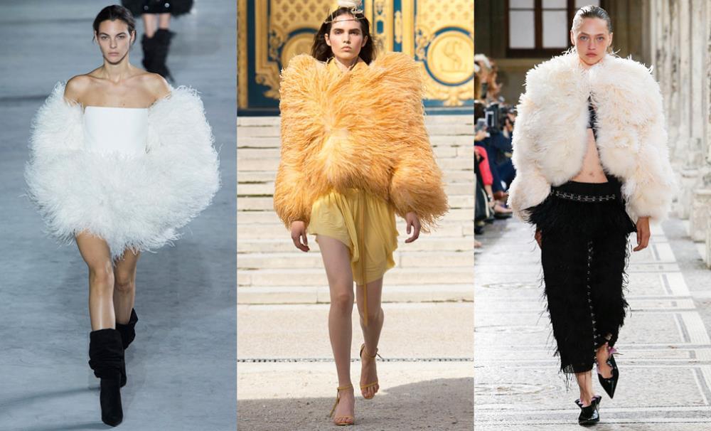 Также в моде весной будут наряды с перьями
