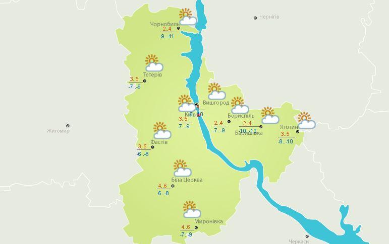 Погода 25 марта в Киеве