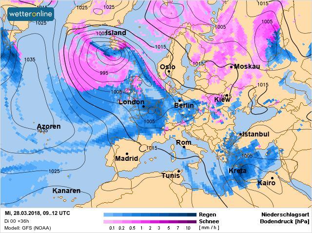 В Украину с атмосферными фронтами придут дожди и мокрый снег