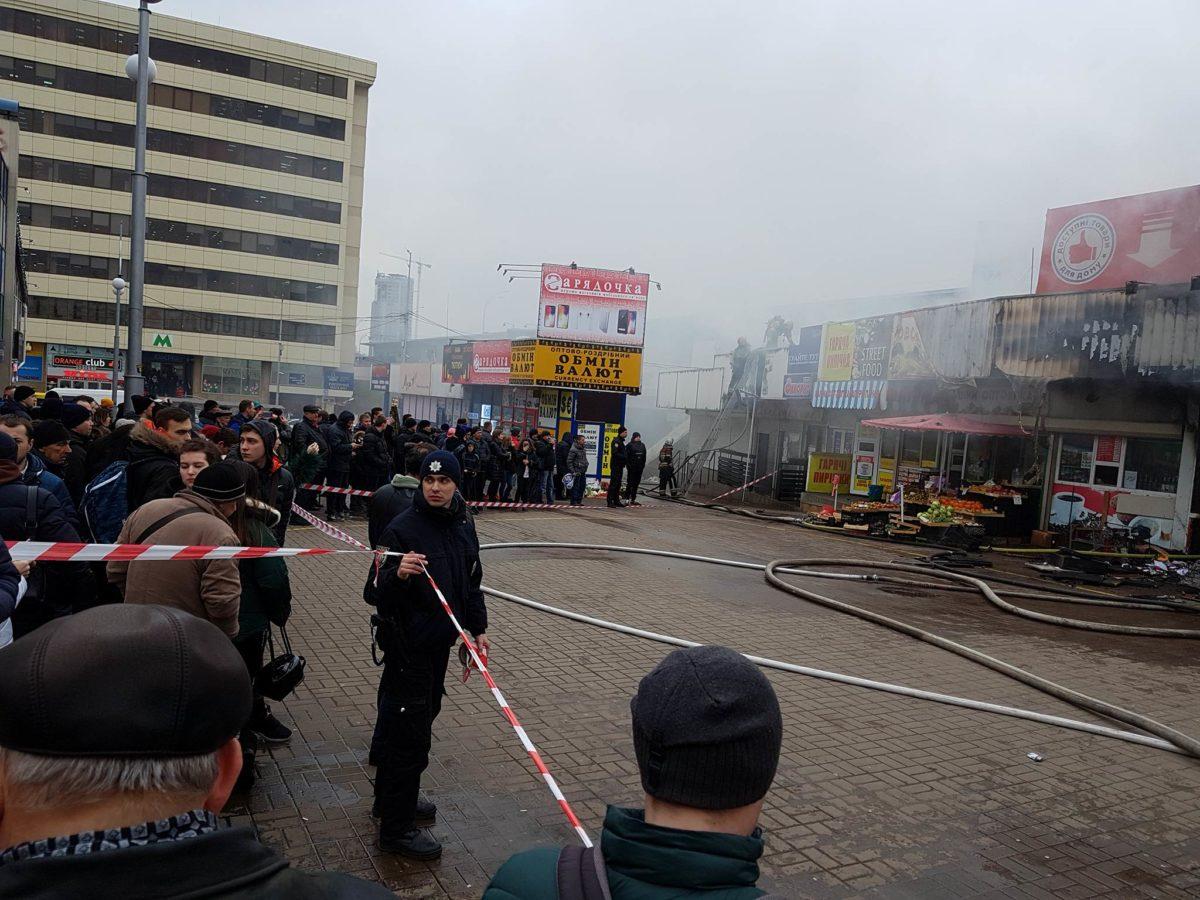 Во время пожара пострадавших нет