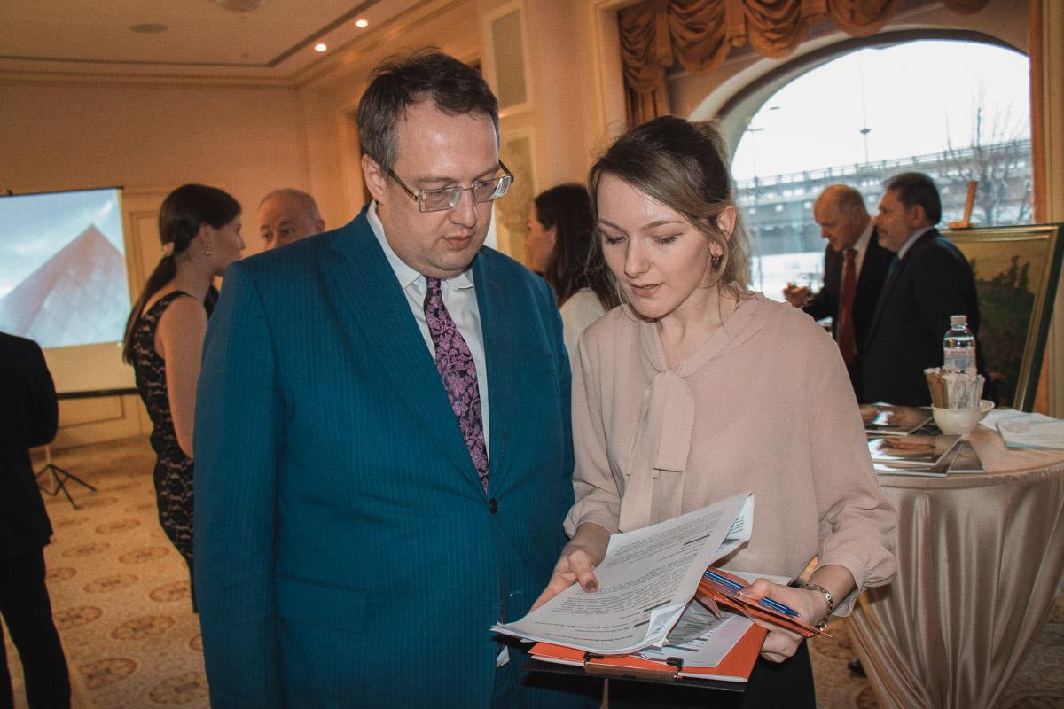 Также на церемонии присутствовал нардеп Антон Геращенко