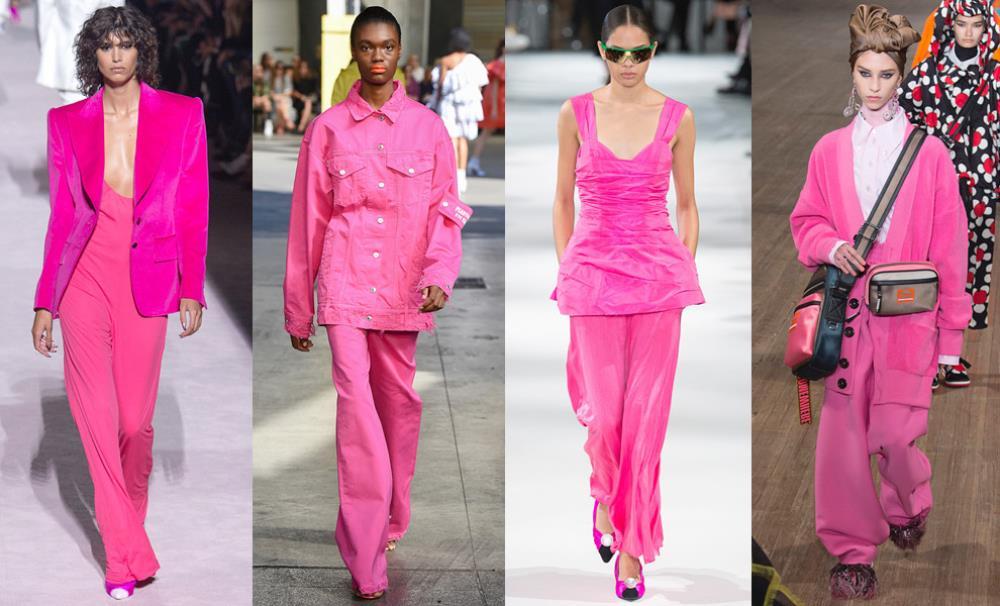 Также модницам советуют носить розовые во всех его оттенках