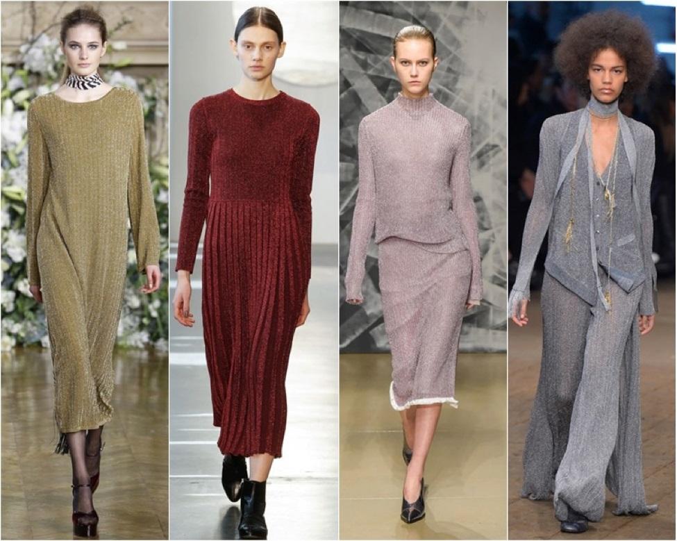 При выборе весенней одежды не проходите мимо вещей из люрекса