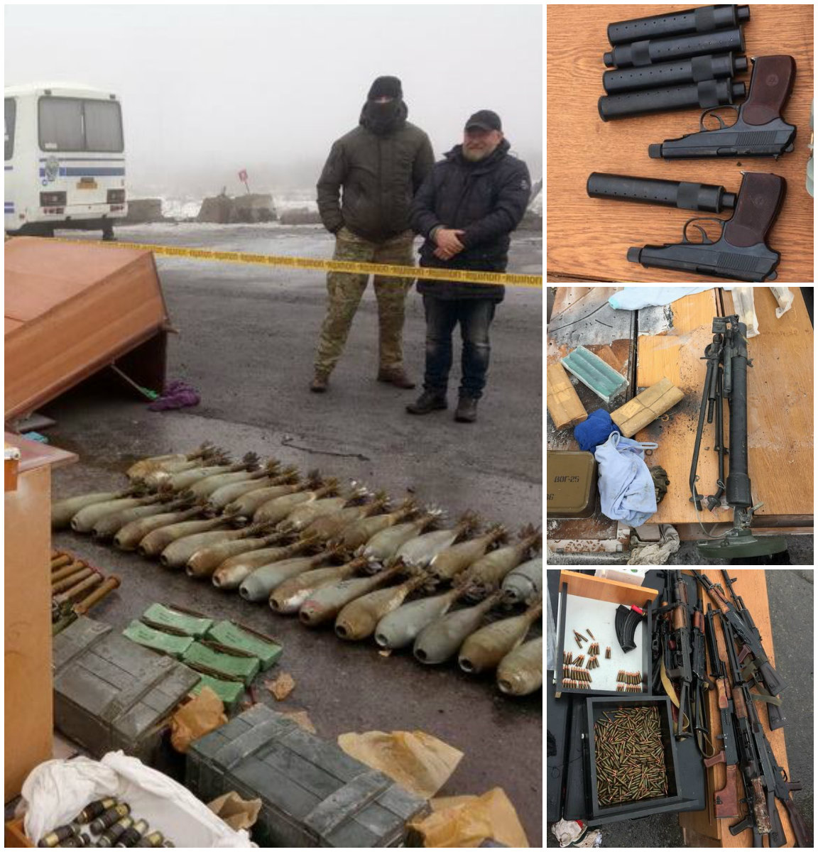 При обыске машины Рубана в ней была обнаружена крупная партия оружия