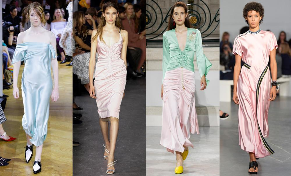 Дизайнеры советуют покупать атласные или шелковые платья
