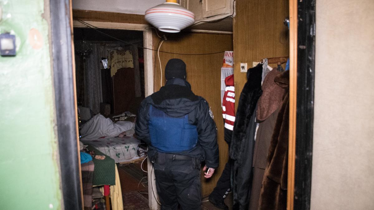 В квартире находились два пожилых человека