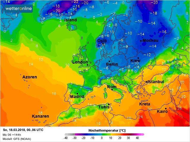 17-18 марта в Украине испортится погода