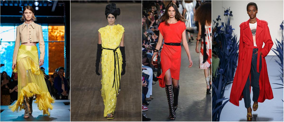 Весной 2018 в моде ярко желтый и красный цвета