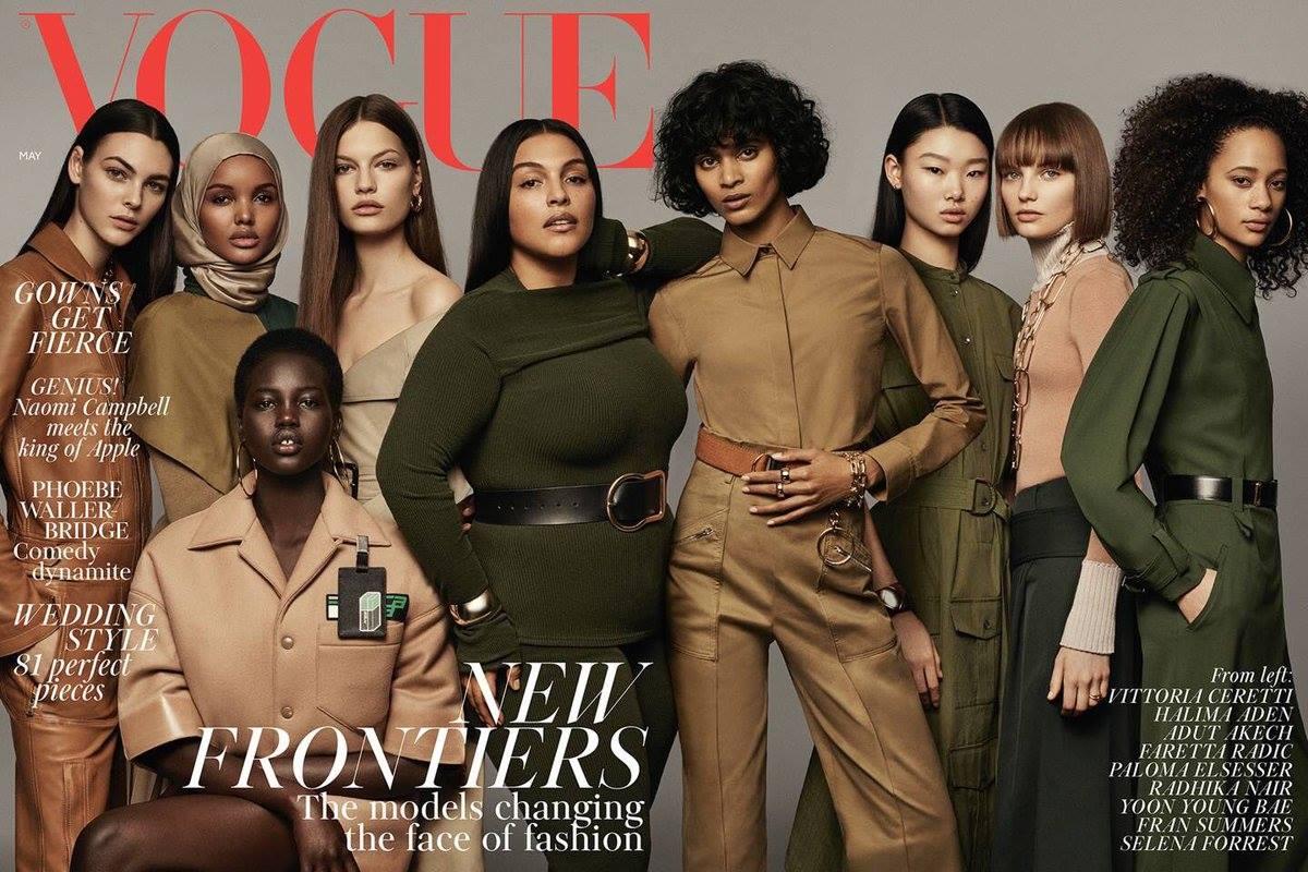 Модель в хиджабе попала на обложку британского Vogue