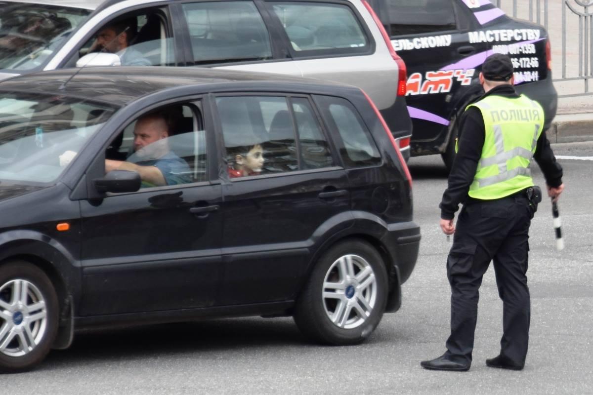 Пока водители негодовали и сигналили, детки разглядывали регулировщиков