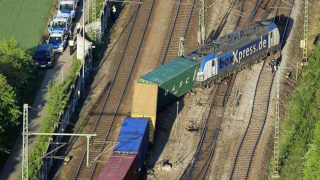 Авария на немецкой железной дороге