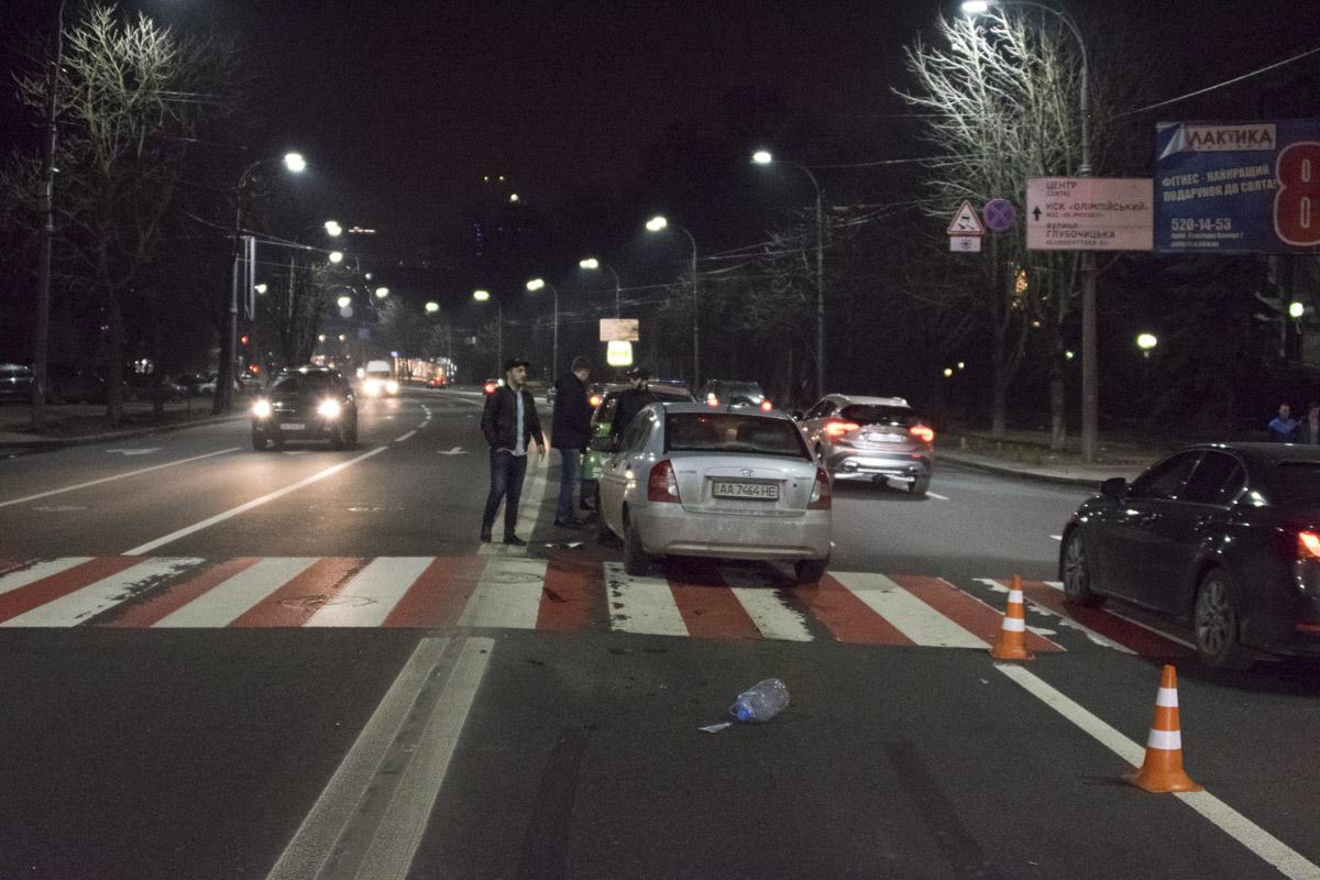 Автомобили столкнулись на Воздухофлотском проспекте