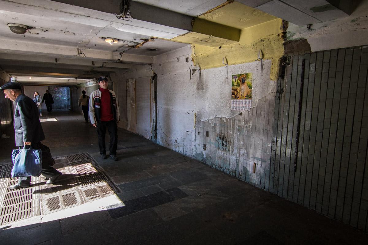 В переходе Черниговской демонтировали МАФы