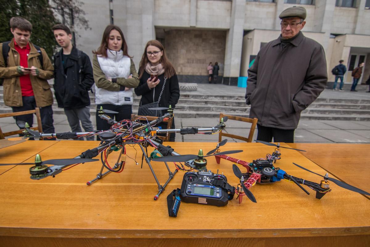 Студенты подготовили и модели дронов