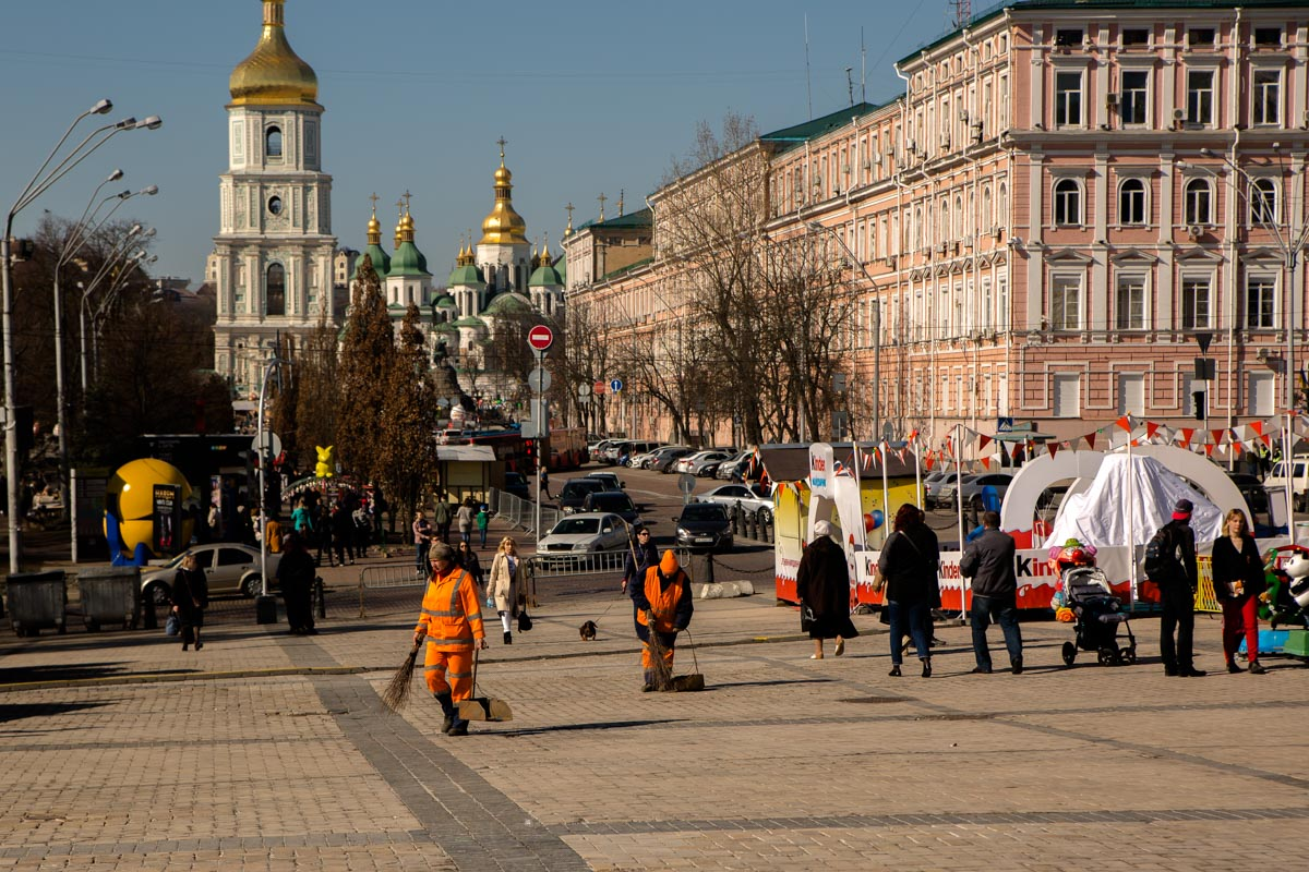Центр Киева потихоньку приобретает ухоженный вид