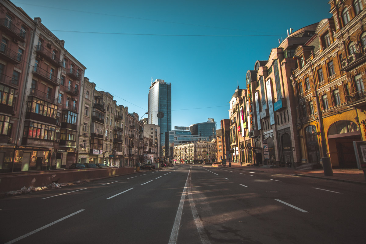 В центре Киева на Пасху безлюдно