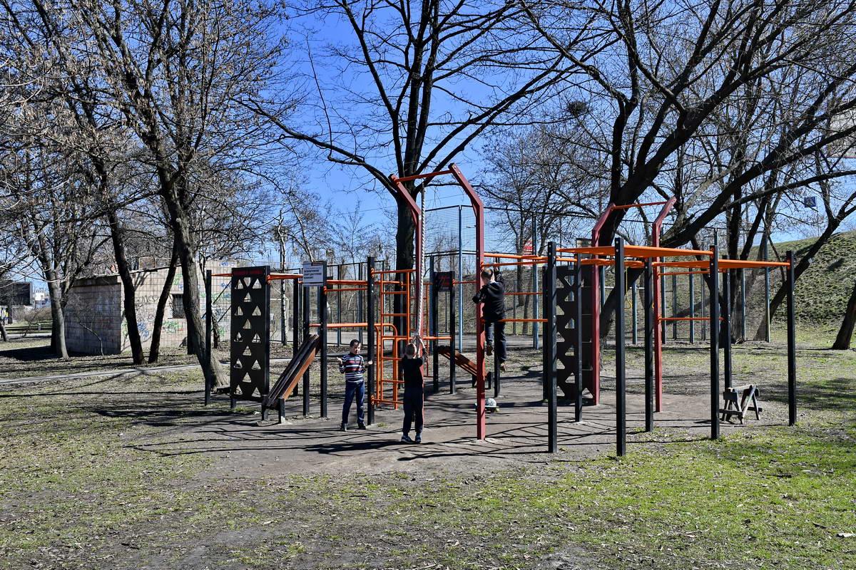 Сейчас в парке много локаций для занятия спортом