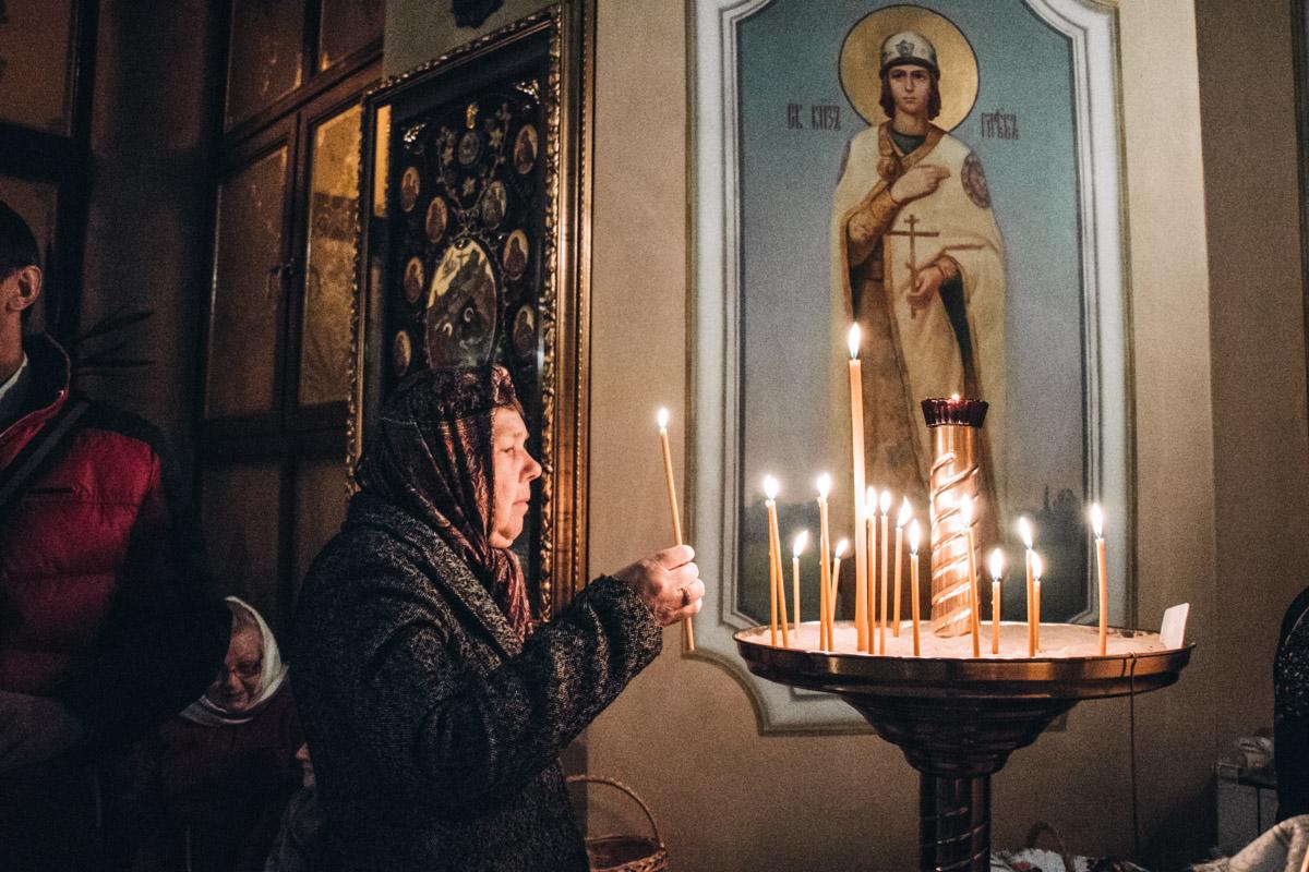 Храм Рождества Христово: прихожане пришли пораньше