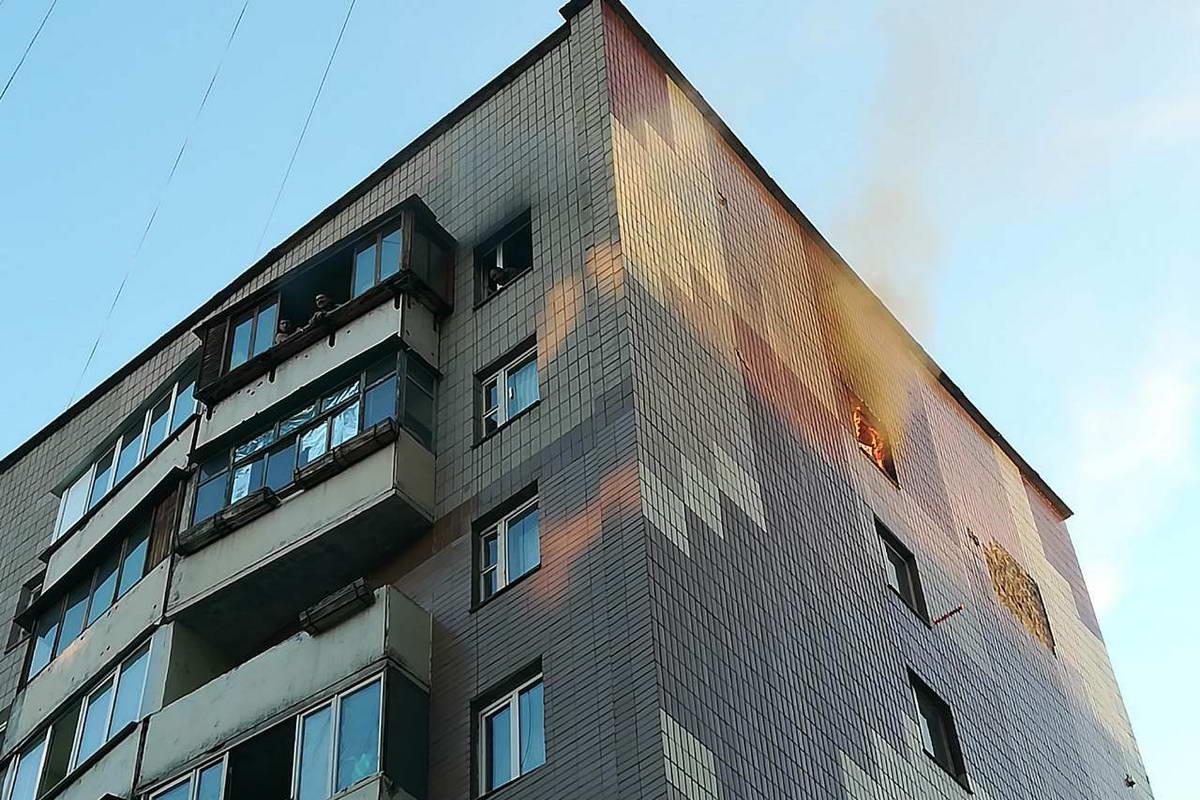 Возгорание произошло в общем коридоре