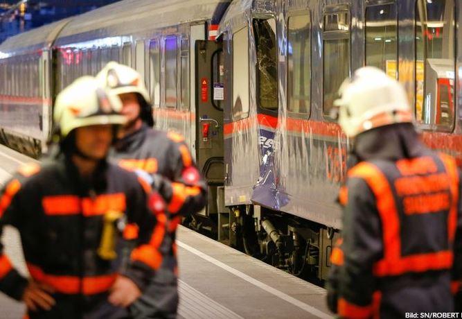 В Зальцбурге пострадали 54 человека из-за столкновения поездов