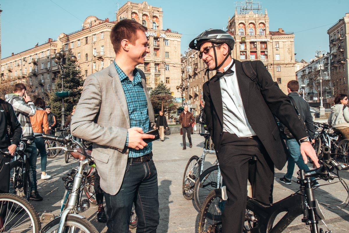В Киеве достаточно сильное велосипедное лобби