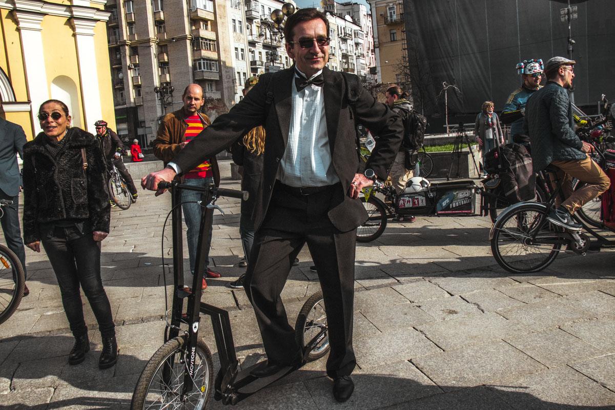 Участники приезжали не только на велосипедах